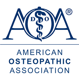 Image result for image of the logo of the american osteopathic association